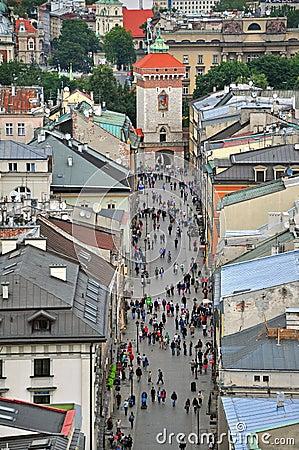 Florianska shopping street, Krakow Editorial Image