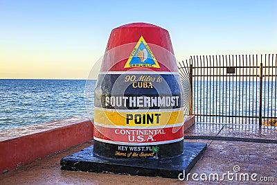 Florida Buoy sign Stock Photo