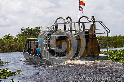 Florida Everglades Airboat Editorial Stock Image