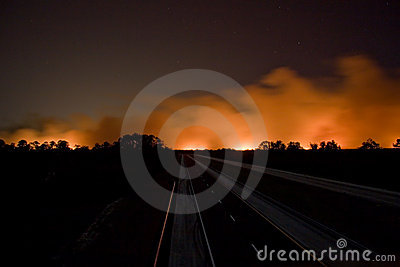 Florida on Fire Editorial Stock Photo