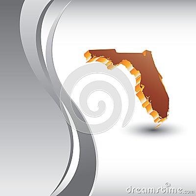 Florida icon vertical silver wave