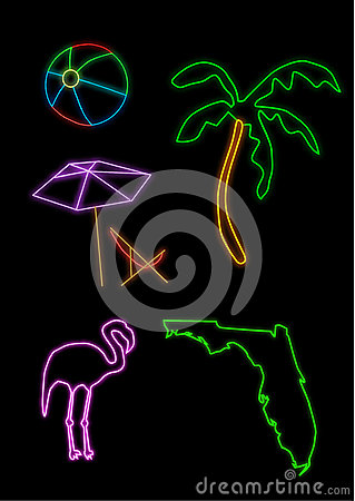 Florida neon shapes