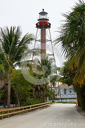 Free Florida Sanibel Island Lighthouse US Stock Image - 73514021