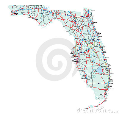 Florida State Interstate Map