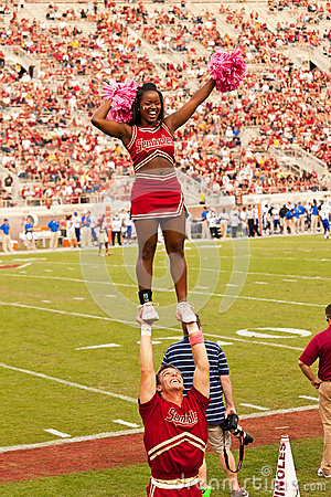 Florida State University Cheerleading Squad Editorial Stock Photo