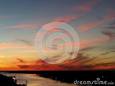 Florida Sunset Waves