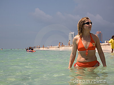 Florida toma in ocean