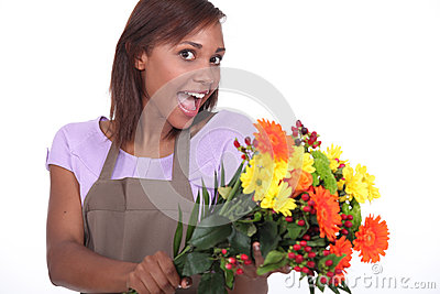 Florist excited