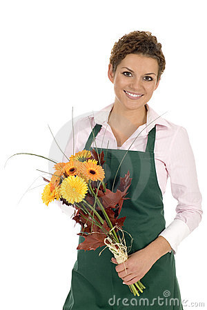 Free Florist Holding Flowers Royalty Free Stock Photos - 6525738