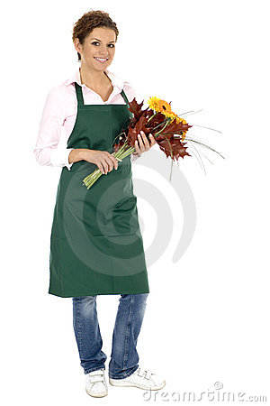 Free Florist Holding Flowers Royalty Free Stock Photo - 6525795