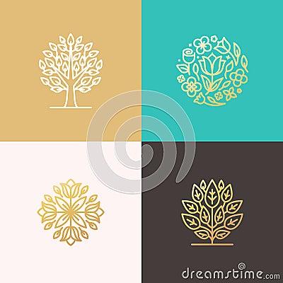 Florist and landscape designers logos stock vector image for Landscape design logo