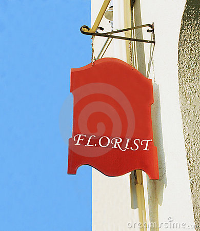 Florist sign.