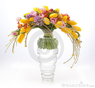 Free Floristry - Colorful Vernal Flowers Bouquet Royalty Free Stock Image - 23441386