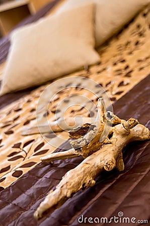 Flotsam decoration on bed