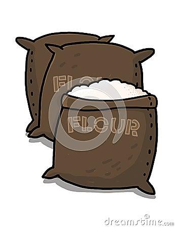 Flour sacks illustration