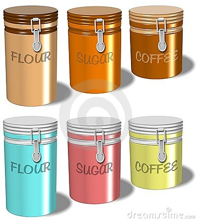 Flour sugar coffee containers