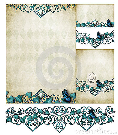 Flourish invitation set