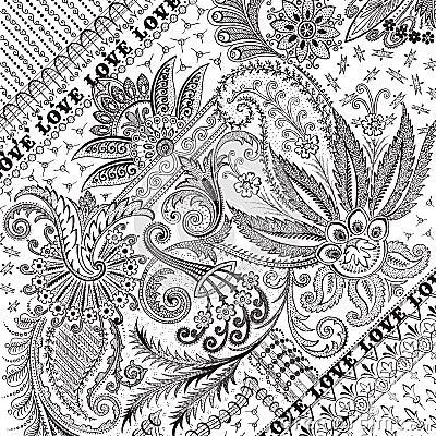Free Flourished Floral Damask Background Or Overlay Stock Photo - 12479050