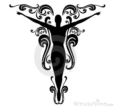 Flourishes Female Tattoo Design 3