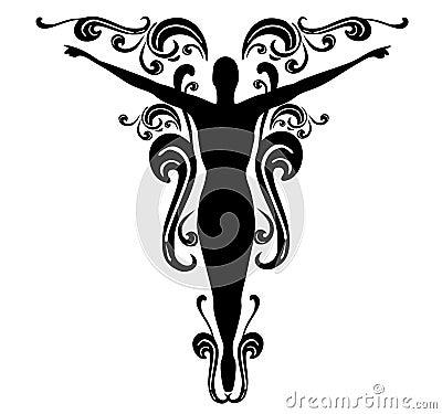 Flourishes Female Tattoo Design 3