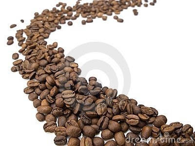 Flow of coffee beans.