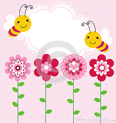 Free Flower And Bee Royalty Free Stock Images - 41992999