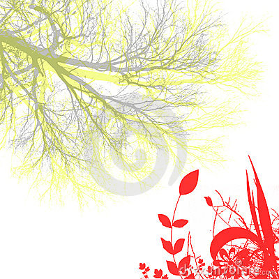 Free Flower And Tree Stock Photography - 852472