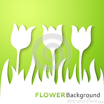 Flower applique background. Vector illustration