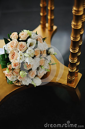 Flower Arrangement  and golden table