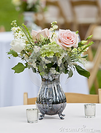 Flower arrangement in pitcher