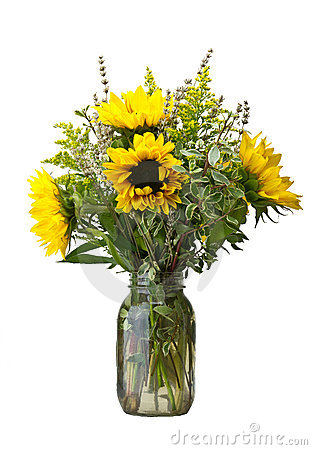 Flower arrangement with sunflowers