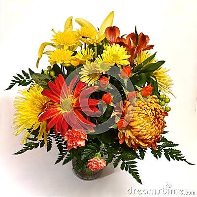 Flower arrangement on white background #3