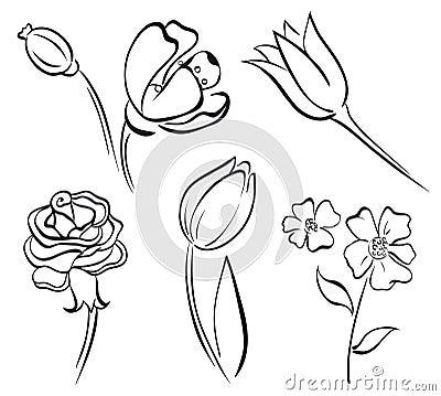 Flower art line