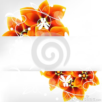 Flower background with a banner