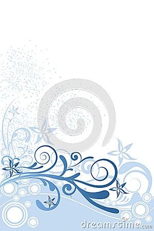 Flower Background Blue Ornament