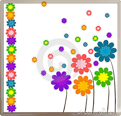 Flower background design.