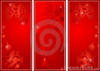 Flower banners by day of sacred Valentine in red s