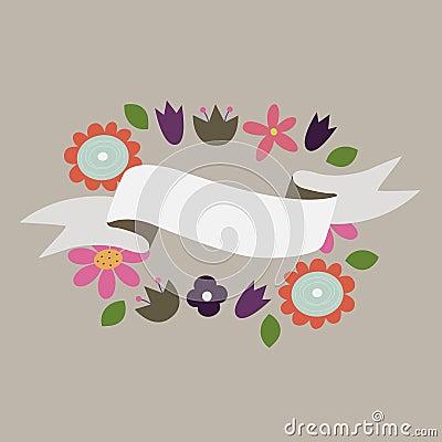 Flower banners.  illustration