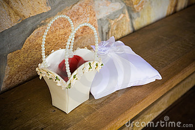 Flower Basket and Ring Pillow