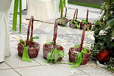 Flower Basket at wedding