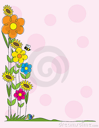 Free Flower Border Stock Image - 4701801