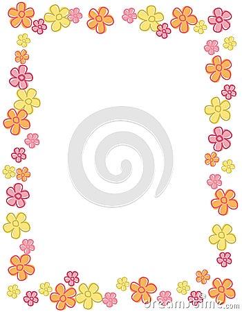 Flower border / frame
