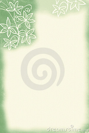 Flower Border / Green Tint
