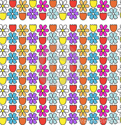 Flower border / seamless pattern