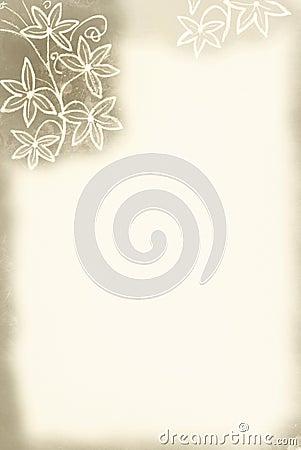 Flower Border / Sepia Tint