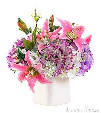 Free Flower Bouquet In White Ceramic Pot Royalty Free Stock Photos - 31697618