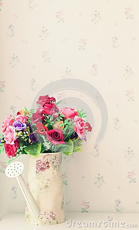 flower bouquet in living rooem