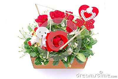 Flower bouquet for Valentine s Day