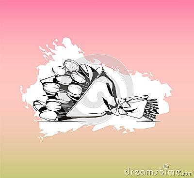 Flower bouquet. Vector icon for presentation, training, marketing, design, web. Vector Illustration