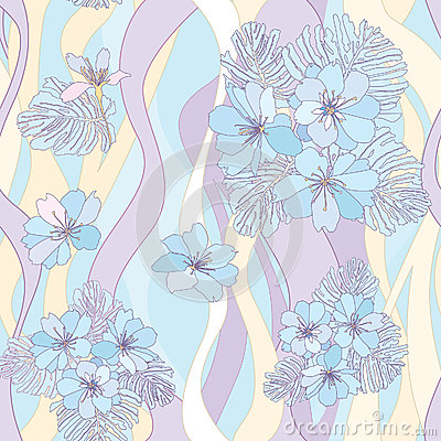 Flower bouquets seamless background.